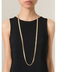 Wouters & Hendrix - Metallic Snake Chain Lariat Necklace - Lyst