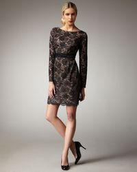 Trina Turk | Black Dentelle Lace Dress | Lyst