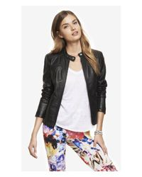 Express - Black (minus The) Leather Jacket - Lyst
