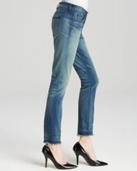 3x1 - Blue Jeans - W2 Mid Rise Crop Skinny Fray In Sea - Lyst