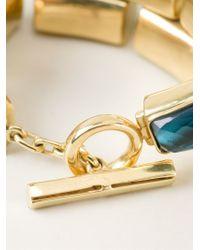 Vaubel - Green Faceted Stone Bracelet - Lyst