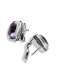 David Yurman - Purple Albion Earrings with Amethyst - Lyst