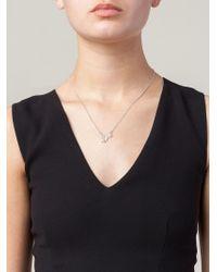 Zoe & Morgan | Metallic 'love' Necklace | Lyst