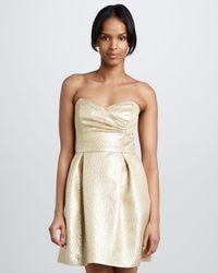 Shoshanna - Dorna Metallic Jacquard Dress - Lyst