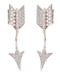 Lydia Courteille - Metallic Arrow Earrings - Lyst