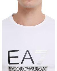 EA7 | White Train Graph Cotton Long Sleeve T-shirt | Lyst