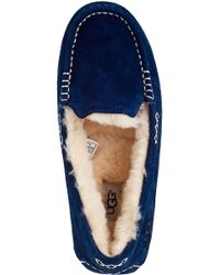 UGG - Blue Ansley Slipper Midnight Suede - Lyst