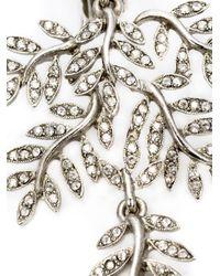 Oscar de la Renta | Metallic Swarovski Crystal Vine Earrings | Lyst