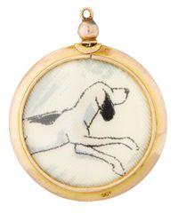Annina Vogel - Metallic Gold Antique Dog Locket - Lyst