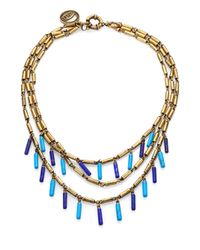 Giles & Brother | Blue Multi Strand Tube Bead Necklace | Lyst