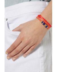 Aurelie Bidermann | Orange Takayama Cotton and Golddipped Bracelet | Lyst