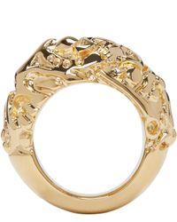 Acne Studios | Metallic Gold Marioline Ring | Lyst