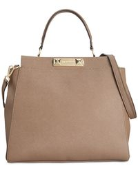 Calvin Klein | Brown Saffiano Shopper | Lyst