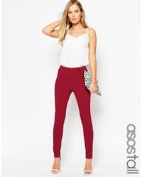 ASOS | Black High Waist Pant In Skinny Fit | Lyst