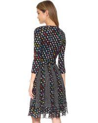 Diane von Furstenberg   Black Caprice Wrap Dress - Daisy Buds Tiny Multi/dotted B   Lyst