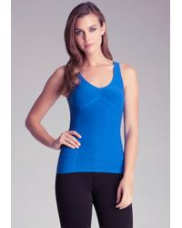 Bebe | Blue Cinched Backout Cami | Lyst