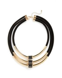 TOPSHOP - Metallic Multi-row Tube Necklace - Lyst