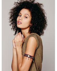Free People - Red Embellished Armband - Lyst