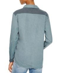 Stateside - Green Contrast Back Oxford Shirt - Bloomingdale's Exclusive - Lyst