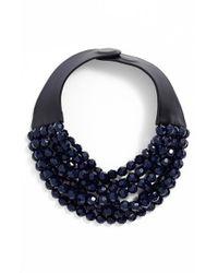 Fairchild Baldwin - Blue Multirow Beaded Collar Necklace - Lyst
