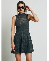 Free People | Gray Fp Beach Womens Best Date Dress | Lyst