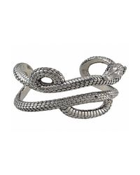 Theo Fennell | Metallic Women's Alias Large Mamba Sterling Silver Cuff | Lyst