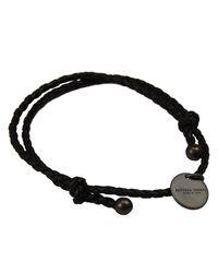 Bottega Veneta - Black Bijoux Bracelet Braided Regolabile - Lyst
