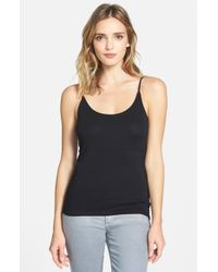 Eileen Fisher | Black Scoop Neck Camisole | Lyst