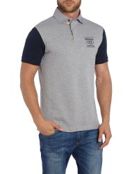 Barbour | Gray Land Rover Rugby Wakefield Polo for Men | Lyst