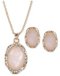 Jones New York | Pink Gold-tone Rose Quartz Cabochon Jewelry Set | Lyst