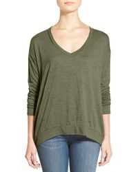 Gibson | Green Dropped-Shoulder Jersey Top | Lyst