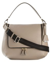 Anya Hindmarch | Gray Maxi Zip Calf-Leather Cross-Body Bag | Lyst