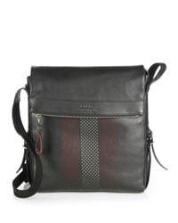 Bally - Black Perforated Trainspotting Crossbody Bag for Men - Lyst
