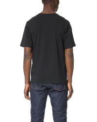 MSGM | Black Logo Tee for Men | Lyst