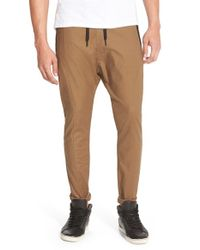 Zanerobe | Brown 'cyamo' Drawstring Chino Pants for Men | Lyst