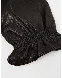 SELECTED | Black Leather Gloves for Men | Lyst