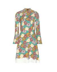 Marni - Multicolor Floral Printed Silk Dress - Lyst