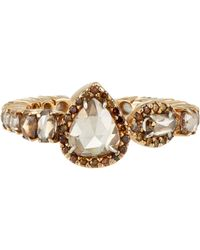 Sharon Khazzam - Metallic Women's Brown-diamond Ring - Lyst