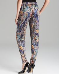Nicole Miller Artelier - Multicolor Pants Tapestry Stretch Charm - Lyst