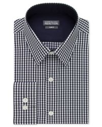 Kenneth Cole Reaction | Blue Extra Slim-fit Gingham Dress Shirt for Men | Lyst