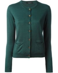 Roberto Collina - Green Round Neck Cardigan - Lyst