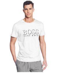 BOSS - White Boss Logo Crew-Neck T-Shirt for Men - Lyst