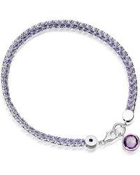 Astley Clarke | Metallic Modern Love 18ct Gold Plated Bracelet With Amethyst | Lyst