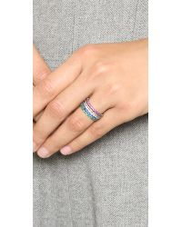Noir Jewelry - Gray Dover Stackable Rings - Lyst