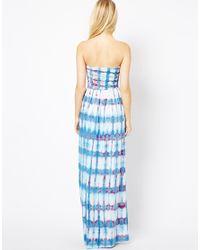 Sugarhill   Blue Printed Maxi Dress   Lyst