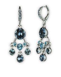 Givenchy - Blue Silvertone Swarovski Indian Sapphire Petite Chandelier Earrings - Lyst