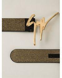 Giuseppe Zanotti - Metallic Logo Belt for Men - Lyst