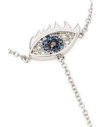 Delfina Delettrez - Metallic 18kt Gold Bracelet And Ring With Diamonds And Sapphires - Silver - Lyst