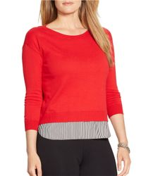 Lauren by Ralph Lauren | Plus Mock-layered Crewneck Sweater | Lyst