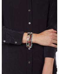 Equipment | Metallic Tom Binns Bracelet with Crystals and Pearls | Lyst